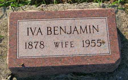 BENJAMIN, IVA - Lincoln County, South Dakota | IVA BENJAMIN - South Dakota Gravestone Photos