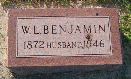 BENJAMIN, W.L. - Lincoln County, South Dakota | W.L. BENJAMIN - South Dakota Gravestone Photos