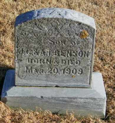 BENSON, INFANT SON - Lincoln County, South Dakota | INFANT SON BENSON - South Dakota Gravestone Photos