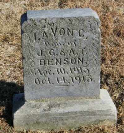 BENSON, LAVON C - Lincoln County, South Dakota   LAVON C BENSON - South Dakota Gravestone Photos