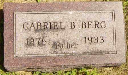 BERG, GABRIEL B - Lincoln County, South Dakota | GABRIEL B BERG - South Dakota Gravestone Photos