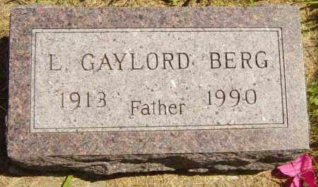 BERG, L GAYLORD - Lincoln County, South Dakota   L GAYLORD BERG - South Dakota Gravestone Photos