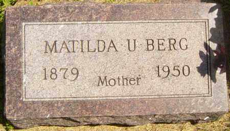 BERG, MATILDA U - Lincoln County, South Dakota | MATILDA U BERG - South Dakota Gravestone Photos