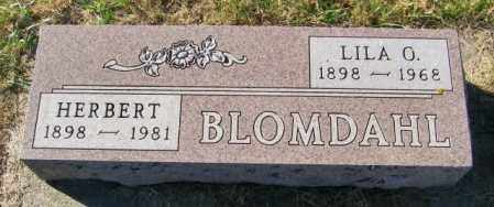 BLOMDAHL, LILA O - Lincoln County, South Dakota | LILA O BLOMDAHL - South Dakota Gravestone Photos