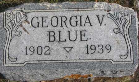 BLUE, GEORGIA V. - Lincoln County, South Dakota | GEORGIA V. BLUE - South Dakota Gravestone Photos