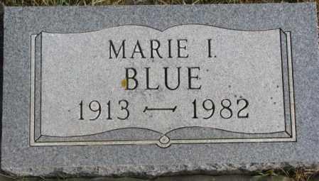 BLUE, MARIE I. - Lincoln County, South Dakota | MARIE I. BLUE - South Dakota Gravestone Photos