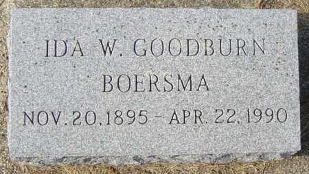 GOODBURN BOERSMA, IDA W - Lincoln County, South Dakota   IDA W GOODBURN BOERSMA - South Dakota Gravestone Photos
