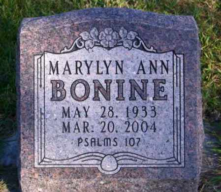 BONINE, MARYLYN ANN - Lincoln County, South Dakota | MARYLYN ANN BONINE - South Dakota Gravestone Photos
