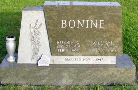 BONINE, ROBBIE A. - Lincoln County, South Dakota | ROBBIE A. BONINE - South Dakota Gravestone Photos