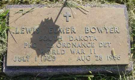 BOWYER, LEWIS ELMER - Lincoln County, South Dakota | LEWIS ELMER BOWYER - South Dakota Gravestone Photos