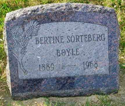 SORTEBERG BOYLE, BERTINE - Lincoln County, South Dakota | BERTINE SORTEBERG BOYLE - South Dakota Gravestone Photos