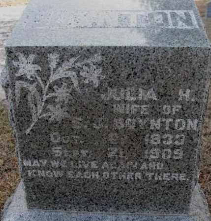 BOYNTON, JULIA H. - Lincoln County, South Dakota | JULIA H. BOYNTON - South Dakota Gravestone Photos