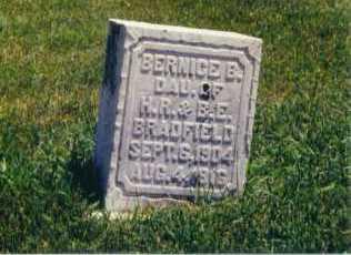 BRADFIELD, BERNICE B - Lincoln County, South Dakota   BERNICE B BRADFIELD - South Dakota Gravestone Photos