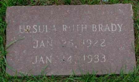 BRADY, URSULA RUTH - Lincoln County, South Dakota | URSULA RUTH BRADY - South Dakota Gravestone Photos