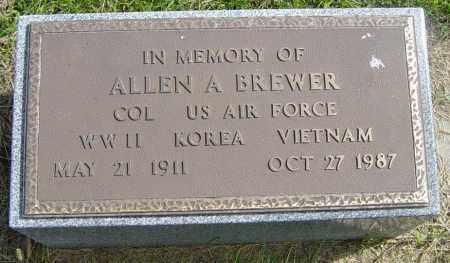 BREWER, ALLEN A - Lincoln County, South Dakota | ALLEN A BREWER - South Dakota Gravestone Photos