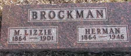 BROCKMAN, M. LIZZIE - Lincoln County, South Dakota | M. LIZZIE BROCKMAN - South Dakota Gravestone Photos