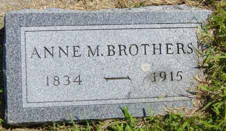BROTHERS, ANNE M - Lincoln County, South Dakota | ANNE M BROTHERS - South Dakota Gravestone Photos