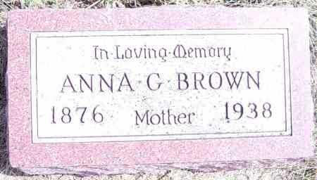 BROWN, ANNA G - Lincoln County, South Dakota | ANNA G BROWN - South Dakota Gravestone Photos