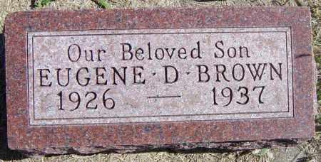 BROWN, EUGENE D - Lincoln County, South Dakota | EUGENE D BROWN - South Dakota Gravestone Photos