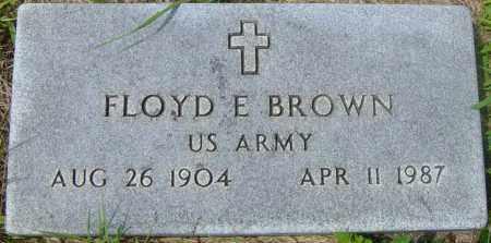 BROWN, FLOYD E - Lincoln County, South Dakota   FLOYD E BROWN - South Dakota Gravestone Photos