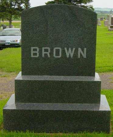 BROWN FAMILY MEMORIAL, OSCAR A - Lincoln County, South Dakota | OSCAR A BROWN FAMILY MEMORIAL - South Dakota Gravestone Photos
