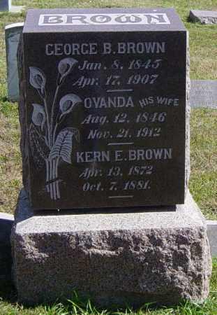 BROWN, KERN E - Lincoln County, South Dakota | KERN E BROWN - South Dakota Gravestone Photos