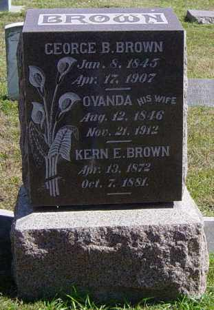BROWN, KERN E - Lincoln County, South Dakota | KERN E BROWN - South Dakota Gravestone Photos