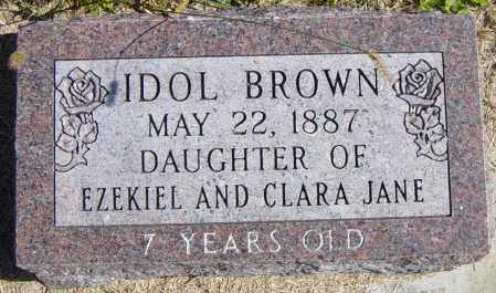BROWN, IDOL - Lincoln County, South Dakota   IDOL BROWN - South Dakota Gravestone Photos