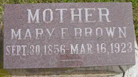 BROWN, MARY E - Lincoln County, South Dakota | MARY E BROWN - South Dakota Gravestone Photos
