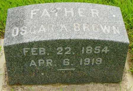 BROWN, OSCAR A - Lincoln County, South Dakota | OSCAR A BROWN - South Dakota Gravestone Photos