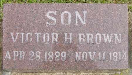 BROWN, VICTOR H - Lincoln County, South Dakota | VICTOR H BROWN - South Dakota Gravestone Photos