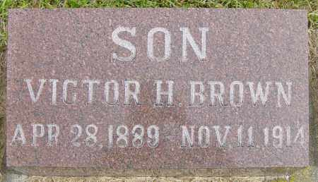BROWN, VICTOR H - Lincoln County, South Dakota | VICTOR H BROWN - South Dakota Gravestone Photos