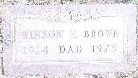 BROWN, WINSON F - Lincoln County, South Dakota   WINSON F BROWN - South Dakota Gravestone Photos