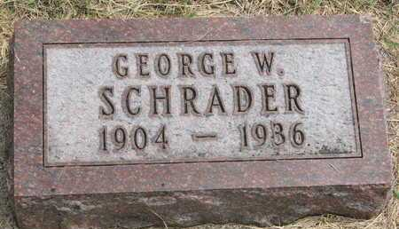 SCHRADER, GEORGE W. - Lincoln County, South Dakota | GEORGE W. SCHRADER - South Dakota Gravestone Photos