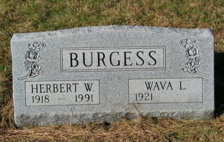 BURGESS, WAVA L - Lincoln County, South Dakota   WAVA L BURGESS - South Dakota Gravestone Photos