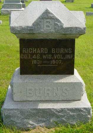 BURNS, RICHARD - Lincoln County, South Dakota | RICHARD BURNS - South Dakota Gravestone Photos