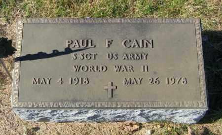 CAIN, PAUL F - Lincoln County, South Dakota   PAUL F CAIN - South Dakota Gravestone Photos