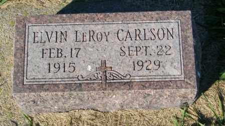 CARLSON, ELVIN LEROY - Lincoln County, South Dakota | ELVIN LEROY CARLSON - South Dakota Gravestone Photos