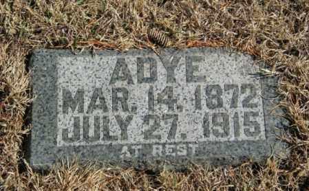 CARPENTER, ADYE - Lincoln County, South Dakota   ADYE CARPENTER - South Dakota Gravestone Photos