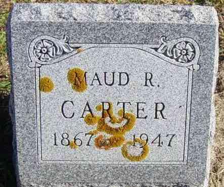 CARTER, MAUD R - Lincoln County, South Dakota   MAUD R CARTER - South Dakota Gravestone Photos