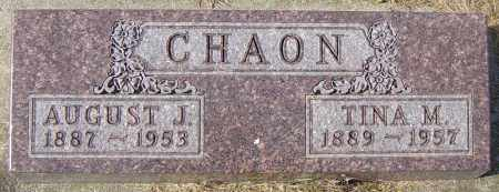 CHAON, AUGUST J - Lincoln County, South Dakota | AUGUST J CHAON - South Dakota Gravestone Photos