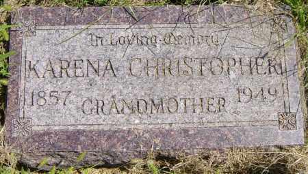 CHRISTOPHER, KARENA - Lincoln County, South Dakota   KARENA CHRISTOPHER - South Dakota Gravestone Photos