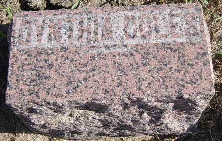 COLES, CYNTHIA - Lincoln County, South Dakota | CYNTHIA COLES - South Dakota Gravestone Photos