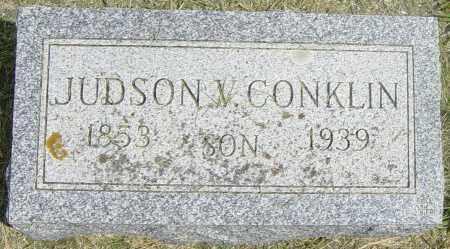 CONKLIN, JUDSON V - Lincoln County, South Dakota | JUDSON V CONKLIN - South Dakota Gravestone Photos