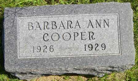 COOPER, BARBARA ANN - Lincoln County, South Dakota | BARBARA ANN COOPER - South Dakota Gravestone Photos