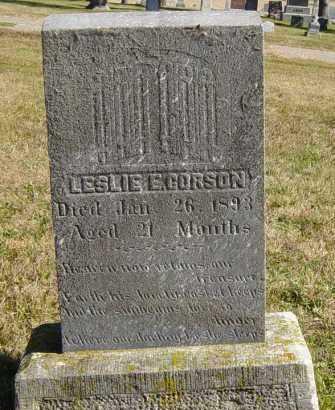 CORSON, LESLIE E - Lincoln County, South Dakota | LESLIE E CORSON - South Dakota Gravestone Photos