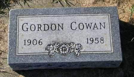 COWAN, GORDON - Lincoln County, South Dakota   GORDON COWAN - South Dakota Gravestone Photos