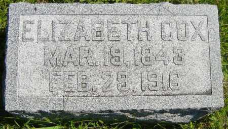 COX, ELIZABETH - Lincoln County, South Dakota | ELIZABETH COX - South Dakota Gravestone Photos