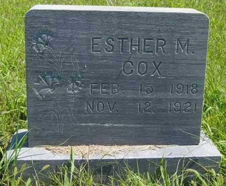 COX, ESTHER M - Lincoln County, South Dakota | ESTHER M COX - South Dakota Gravestone Photos
