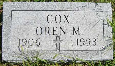 COX, OREN M - Lincoln County, South Dakota | OREN M COX - South Dakota Gravestone Photos